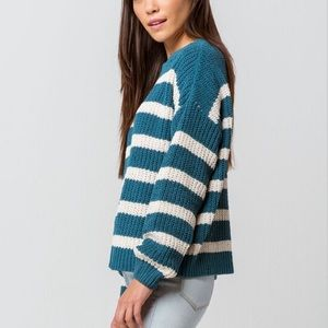 Teal Chenille Sweater